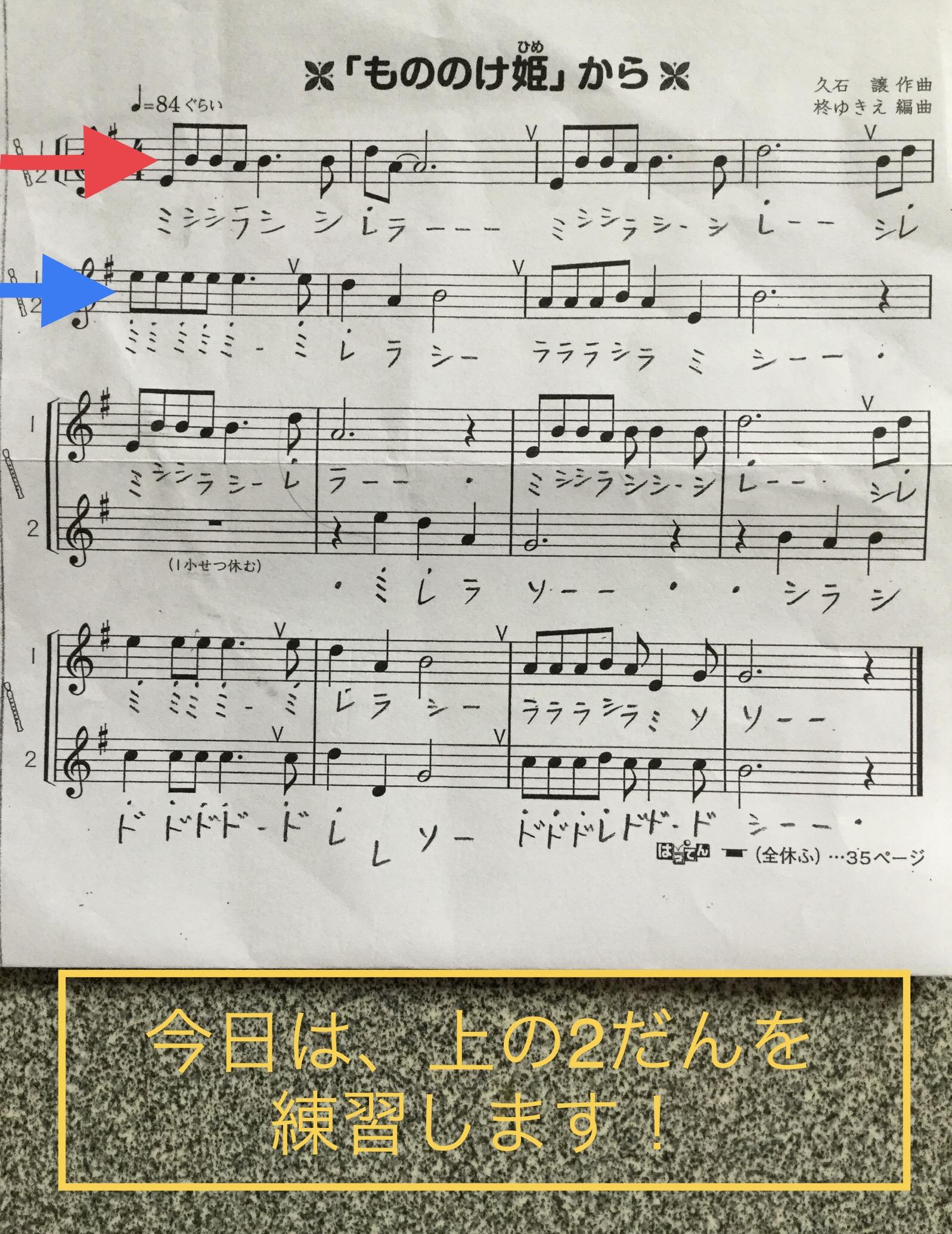 リコーダー 楽譜 エーデルワイス